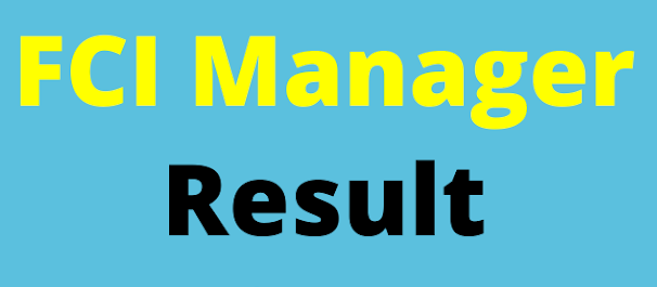 FCI Manager Result