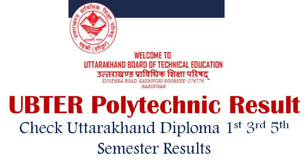 UBTER Polytechnic 1st 3rd 5th Semester Results