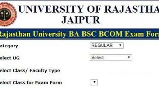Rajasthan University online form