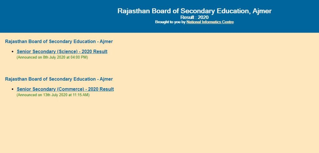 rbse 10th 12th result checking steps