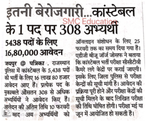 rajasthan police result cutoff date latest news